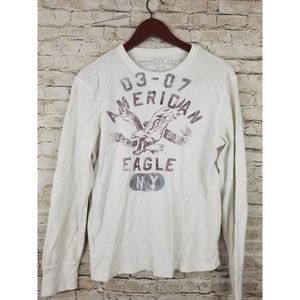 American eagle vintage Fit Men  White Graphic lrg